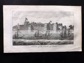Anon C1780 Antique Print. A View of the Castle of Surat, India